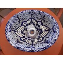 Lavabo Ovalin Gigante Artesanal Talavera Fina Estilo Antiguo