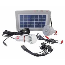 Placa Solar Com Bateria 2 Lampadas Led Emergencia Lanterna