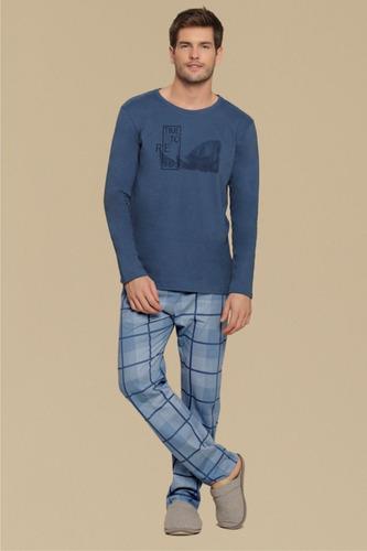 1f1c282e0 Pijama Masculino Time To Relax - Cor Com Amor - R  94