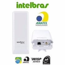 Antena Cpe Intelbras Wireless Wom 5000 Mimo Nanostation Led
