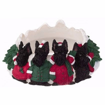 Portavelas Navideño Scottish Terrier - Ceramica - Hermoso!