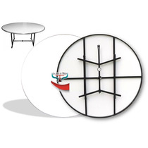 Mesa Plegable Redonda Alquiler Fabrica Fibra De Vidrio
