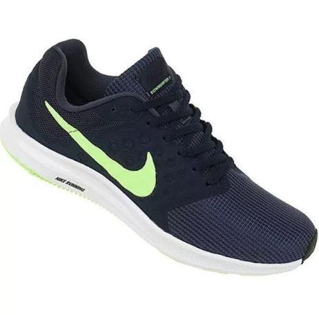 4604eb88e6 Tenis Nike Downshifter 7 Masculino Azul E Verde - Original - R  255 ...