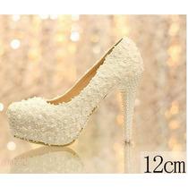 Sapato De Renda Casamento E Noivas Importado - Feito Mão!