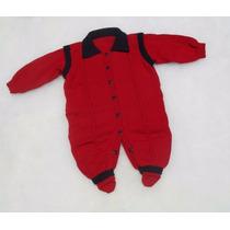Macacão Tricot Bebê Gola Polo Abertura Frontal Veste Fácil