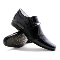 Sapato Masculino Social Em Verniz Estilo Ferracini/calvest