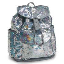 Aeropostale Kids Glitter Paillete Backpack Mochila Tornasol