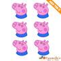 Enfeite Micro Carinhas Eva George Pig C/6 Und Piffer