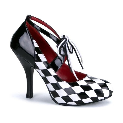 Zapatos De Bombas Para Carreras Piloto Mujer A Cuadros RU4xHg
