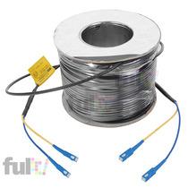 Cable Prefabricado 300 Metros Fibra Optica Monomodo Sc 9/125