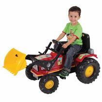 Mini Veiculo Pedal Trator Farmer Vermelho Com Pá Biemme