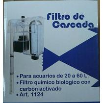 Filtro Cascada 20 A 60 Litros Peces Pecera Agua Dulce/salada