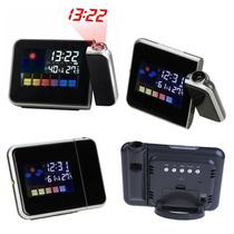Reloj Despertador, Termometro, Higrometro, Proyector Led