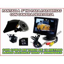 Camara De Reversa Y Monitor Hd Autobuses Vans Y Camion