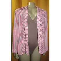 Camisa Feminina Listrada Tam.médio S/strech Cx2