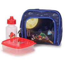 Lancheira Escolar Térmica Angry Birds C/ Acessórios