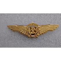 Distintivo De Metal Dourado Paraquedista Da Polícia De Mt