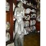 Escultura De Piedra En Base De Madera Bien Realizada
