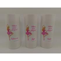 Copo Long Drink Personalizado Aniversario Barbie Bailarina