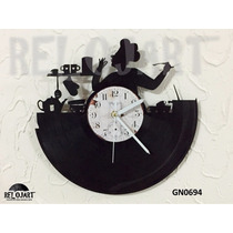 Original Reloj De Pared Disco De Acetato Lp - Cheff