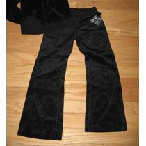 Pantalon Importado Buso Suelto Velour Negro Petit S Stock