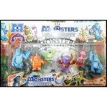 Set 6 Muñecos Monsters Inc University Niños Navidad