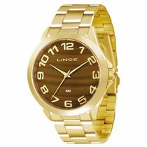 Relógio Lince Feminino Analógico Dourado Lrgj039l M2kx