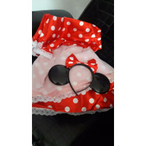 Disfraz Minnie Mouse Mimi Rojo Traje Fiesta Orejas Molo