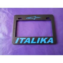 Porta Placa Italika Moto Universal Motocicleta Emblema