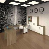 Kit Office 6500 Multivisão - Nogal / Branco.