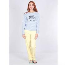 Pijama Blusa E Calça Feminino Sonhos - Amarelo
