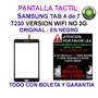 Tactil Samsung Tab 4 T230 Wifi Pantalla Tactil + Boleta