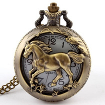 Reloj De Bolsillo Con Caballo En Bronce Exclusividad !!!