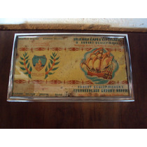 Raro Cartaz De Embalagem De Café Muito Antigo Sec Xviii