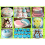 Foto Torta Decorada 2kg+cupcakes Comunion Babyshower 15años