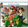 Centro De Torta De Jake Y Los Piratas En Masa Flexible
