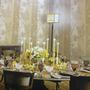 12015 - Floral Com Listras (Tons De Amarelo/ Palha/ Detalhes Com Glitter Dourado)
