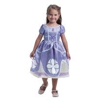 Fantasia Princesa Sofia Original Disney Vestido Standard