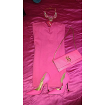 Precioso Vestido Rosa Barbie De Shasa!!!