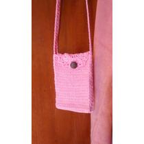 Cartera Morral Tejida Al Crochet Celular Nena