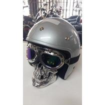 Farol Cranio Caveira Motos Custom Triciclo