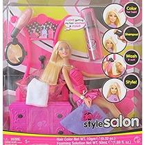 Juguete Barbie Pelo Del Estilo Del Salón Playset W Muñeca B
