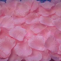 150 Petalos De Rosa Artificiales De Tela Color Rosa