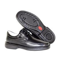 Sapato Social Masculino Ortopédico Antistress Couro Conforto