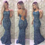 Vestido Longo Sereia C/ Bojo Decote Costas+calcinha D Brinde