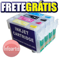 Kit Cartucho Recarregável Tx210 Cx5600 Cx7300 Frete Grátis
