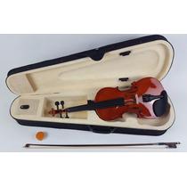 Violino Custom 4/4 C/ Case Acabamento Rajado Tipo Eagle