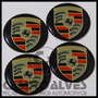 Jg Emblemas Adesivo Miolo Tampa Roda Porsche 58mm - 4 Pçs