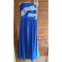 Vestido De Noche Azul Rey