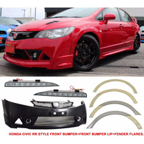 Parachoque+fender Flare+ Led Drl Honda Civic Mugen Rr 06-11